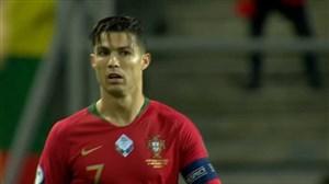 گل اول پرتغال به لیتوانی (رونالدو-پنالتی)