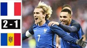 خلاصه بازی فرانسه 2 - مولداوی 1