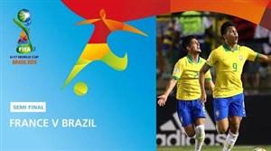 خلاصه بازی فرانسه 2-3 برزیل(نیمهنهایی جامجهانی زیر17سال)