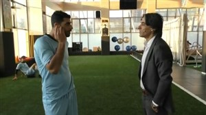 گفتگو شمسایی با آزمون و طارمی در تمرینات تیم ملی