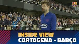 پشت صحنه دیدار دوستانه بارسلونا - کارتاخنا