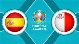 خلاصه بازی اسپانیا 7 - 0 مالت (مقدماتی یورو2020)