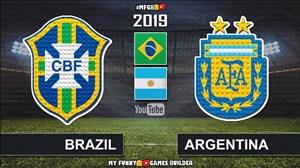 شبیه سازی بازی آرژانتین - برزیل با لگو