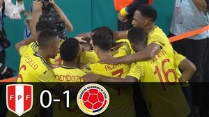 خلاصه بازی کلمبیا 1 - پرو 0 (دوستانه)