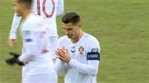 گل دوم پرتغال به لوکزامبورگ توسط کریستیانو رونالدو