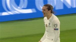 گل دوم فرانسه به آلبانی (گریزمان)