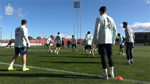 تمرینات تیم ملی اسپانیا قبل از دیدار با رومانی