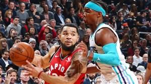 خلاصه بسکتبال تورنتو رپترز - شارلوت هورنتس