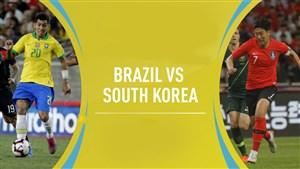 خلاصه بازی برزیل 3 - کره جنوبی 0 (دوستانه)
