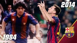 مقایسه عملکرد مسی و مارادونا با پیراهن بارسا