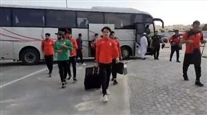 ورود تیمملی المپیک به محل برگزاری دیدار با المپیک قطر