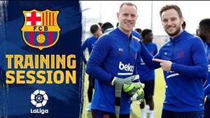 تمرینات آماده سازی بارسلونا (30-08-98)