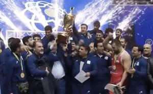 مراسم اهدای مدال لیگ برتر کشتی آزاد