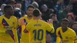 گل اول بارسلونا به لگانس توسط سوارز