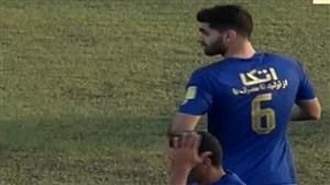 گل اول استقلال به نساجی (علی کریمی)