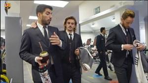 حواشی عکس تیمی بازیکنان بارسلونا