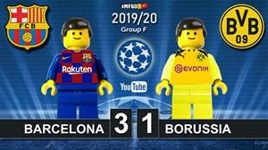 شبیه سازی بازی بارسلونا - دورتموند با لگو