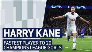 تمام 20 گل هری کین در لیگ قهرمانان اروپا
