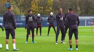 آخرین تمرین پاریسی ها قبل از بازی با موناکو
