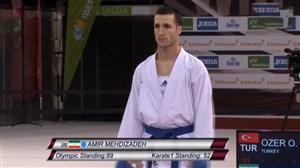 کسب مدال طلا توسط امیر مهدیزاده در لیگ جهانی کاراته