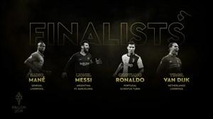 چهار نامزد نهایی دریافت توپ طلا 2019