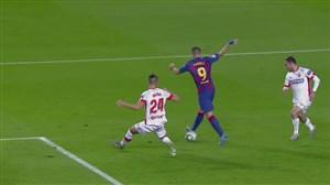 پشت پای استثنایی سوارز ؛ گل چهارم بارسلونا به مایورکا