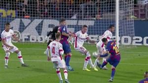 هتتریک مسی ؛ گل پنجم بارسلونا برابر مایورکا