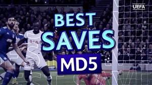 بهترین سیوهای هفته پنجم لیگ قهرمانان اروپا 20-2019