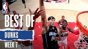 برترین اسلم دانک های هفته هفتم NBA
