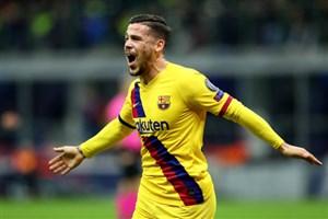 گل اول بارسلونا به اینتر توسط کارلوس پرز