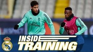 تمرینات رئال مادرید برای آماده سازی دیدار با کلوب بروژ