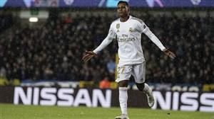 عملکرد رودریگو مهاجم رئال مادرید برابر کلوب بروژ
