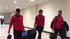 ورود بازیکنان شهرخودرو و نساجی به ورزشگاه شهید وطنی