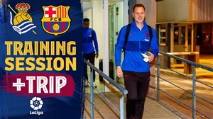 آخرین تمرین بارسلونا قبل از دیدار با رئال سوسیداد