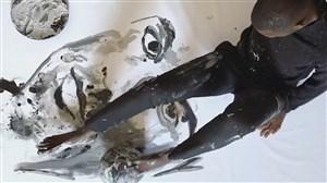 طراحی جالب چهره کریستیانو رونالدو با توپ و پا