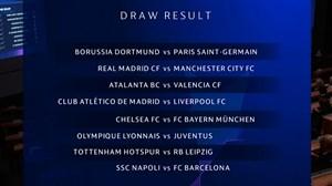 قرعه کشی مرحله یکهشتم لیگ قهرمانان اروپا 2020
