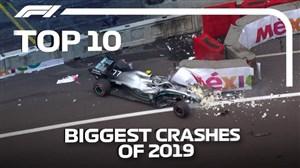 شدیدترین تصادفات فرمول یک در سال ۲۰۱۹