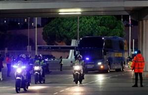 ورود تیمهای بارسلونا و رئال مادرید به نیوکمپ