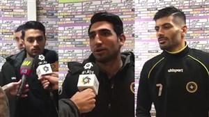 صحبتهای بازیکنان سپاهان پس از پیروزی پرگل