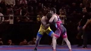 پیروزی سعید عبدولی برابر ناقوسی در کشتی فرنگی (87kg)