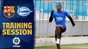 تمرینات بارسلونا برای تقابل با آلاوس