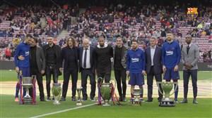 پشت صحنه مراسم دهمین سالگرد ششگانه بارسلونا