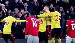 شکست غیرمنتظره یونایتد در خانه واتفورد