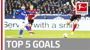 5 گل برتر هفته هفدهم بوندسلیگای آلمان
