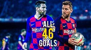 تمام 46 گل لیونل مسی در سال 2019