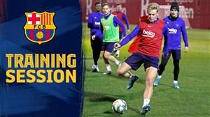 بازگشت بازیکنان بارسلونا به تمرینات