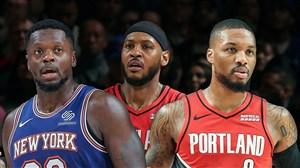 خلاصه بسکتبال نیویورک نیکس - پورتلند