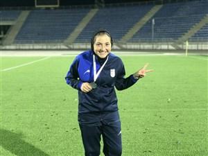 تنها زن فوتبالیست مشترک تیم ملی فوتبال و فوتسال