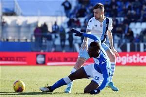 اخراج ماریو بالوتلی با خطای شدید در بازی برابر کالیاری