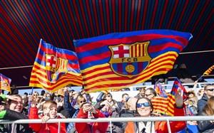 حمایت هواداران بارسلونا از بیمارستان کودکان شهر بارسلون